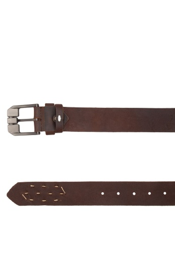 Volkswagen brown Volkswagen 40mm Genuine Leather Belt VO089AC99GMQMY_1