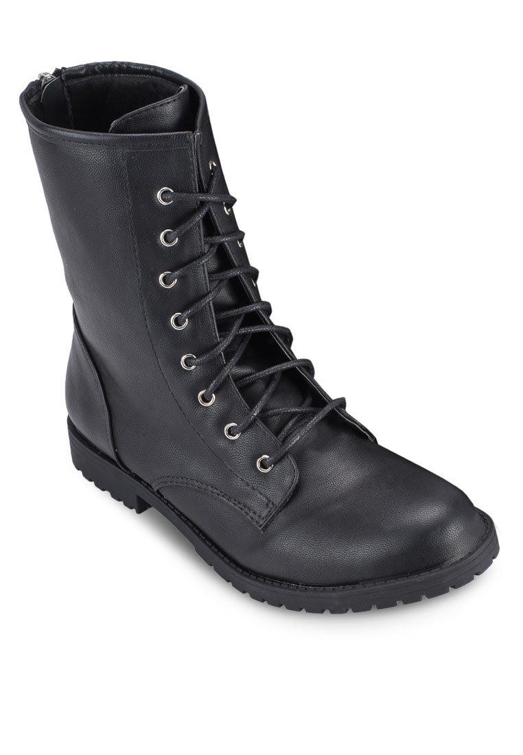 High Laced Up Riding Boots