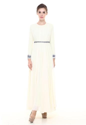 3923553318004 Rina Nichie Couture yellow Dayan Dress in Light Yellow RI590AA0RWL3MY_1