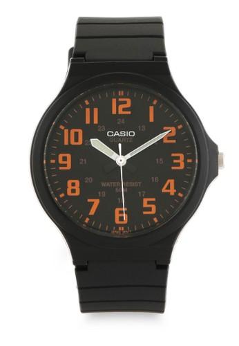 Casio black Casio Jam Tangan Pria - Black Orange - Resin - MW-240-4BVDF FCD81ACBF68452GS_1