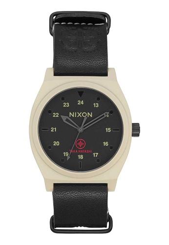 Nixon black Nixon x Taka Hayashi Time Teller 37mm - Bone/Black (A11202518) 3BDAEAC585C54DGS_1