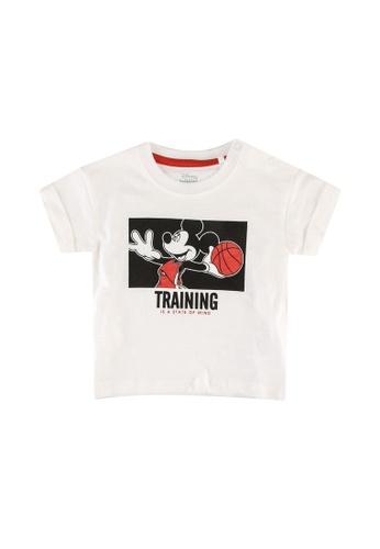 FOX Kids & Baby white Baby Boys Mickey Print Tee 0E515KA333CA01GS_1