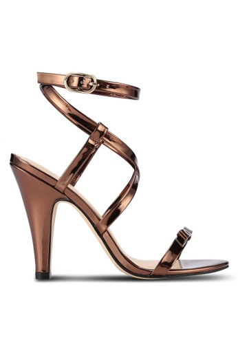 ZALORA gold Metallic PU Sandal Heels 5E3D0SH30C3208GS_1