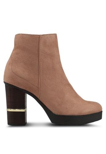 River Island 米褐色 麂皮靴子 6E6A2SH11F467FGS_1
