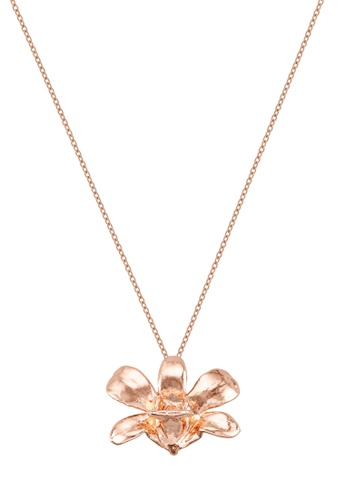 RISIS pink RISIS 18K Rose Gold Plated Natural Dendrobium Thong Chai Orchid Brooch/Pendant 377A9AC887DE7CGS_1
