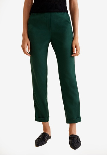 Mango green Straight Trousers D21FEAA87C7CEDGS_1