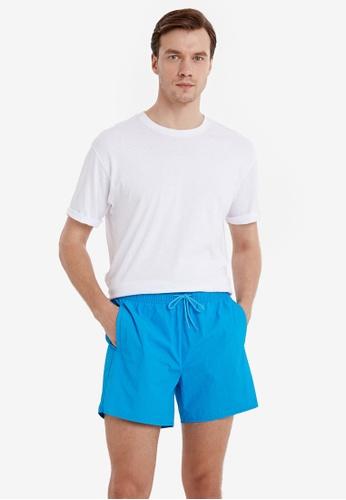 LC WAIKIKI blue Basic Short Swim Trunks B33F0US4D3AFEFGS_1
