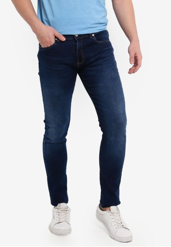 Electro Denim Lab blue and multi Indie Skinny Jeans DF781AA5554D3FGS_1