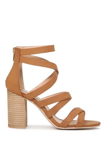 London Rag 米褐色 LONDON RAG 女式裸色条带高跟凉鞋 16E25SHBF03A66GS_1