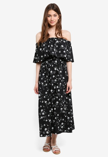 Something Borrowed black Off Shoulder Midi Dress 0D9BDAA2EC5016GS_1