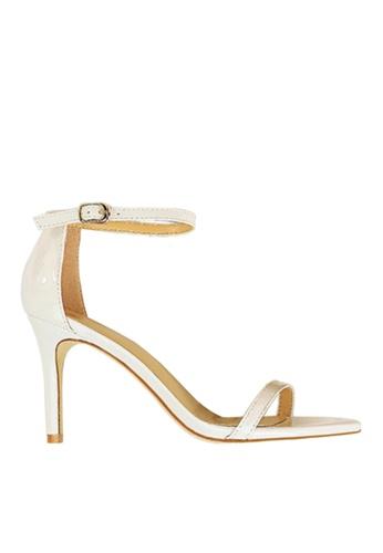Twenty Eight Shoes white Shiny Single Strap Heel Sandals VS126A10 C6D01SH5D39726GS_1