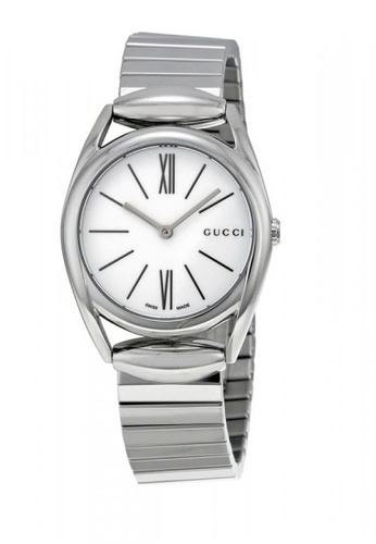 Gucci silver GUCCI Horsebit New Small White Dial Ladies Watch AFE74ACB69E3EDGS_1