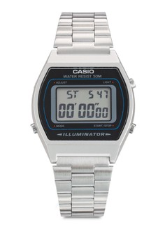 Image of Casio Men's Silver Digital Retro Stainless Steel Watch