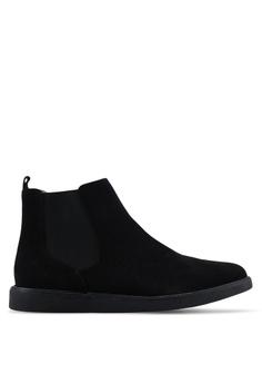 sports shoes 3157a bd519 Topman black Black Chant Chelsea Boots E9228SH707D302GS 1