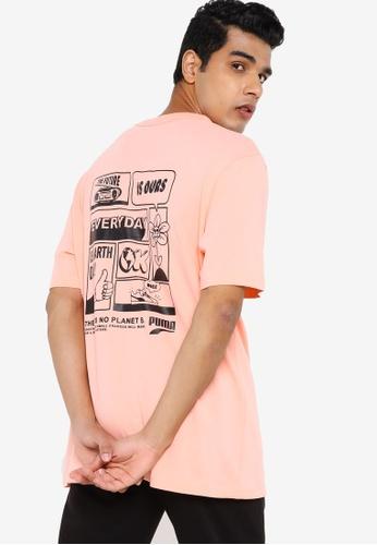 Puma pink Downtown Graphic Men's Tee 32D80AA5D3448DGS_1