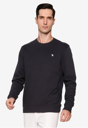 Abercrombie & Fitch black Holiday Icon Crew Sweatshirt F43B2AA903CC64GS_1