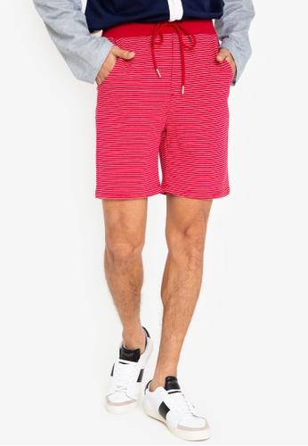ZALORA BASICS red Contrast Waist Jersey Shorts 3F8FFAA2A482A8GS_1