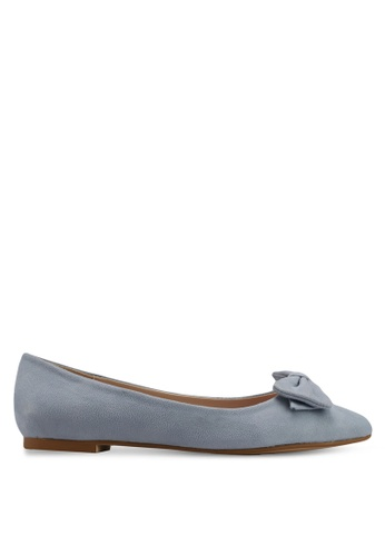 Velvet blue Bow Detail Ballerina AF5F3SHD93154FGS_1