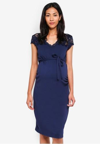 Mama.licious navy Maternity Blackie Mivana Cap Dress 8C1D1AA5A88C25GS_1