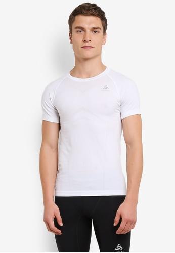 Odlo white Crew Neck Evolution Light Short Sleeve Shirt OD608AA0S129MY_1