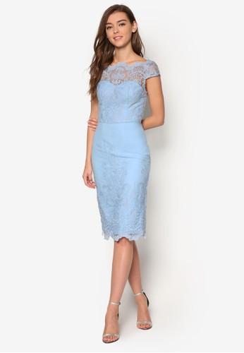 Logan 鉤花蕾絲拼esprit暢貨中心接洋裝, 服飾, 洋裝