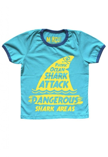 Marcus blue Shark Attack Graphic Tee 9554CKACCEC618GS_1