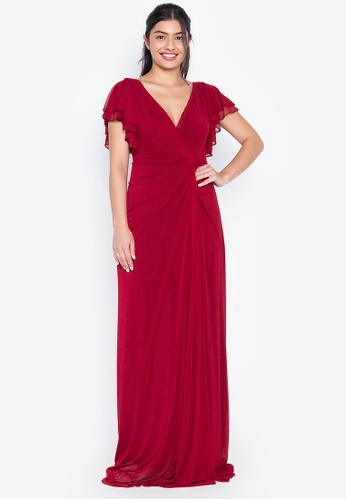 Tantease red Oliva Evening Dress AB31DAAD01BB58GS_1