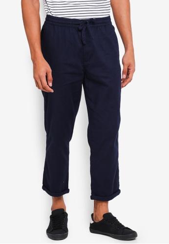 Cotton On 海軍藍色 休閒抽繩褲 880C5AAAE1CB60GS_1