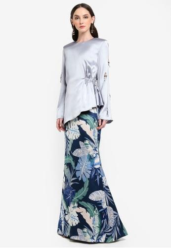Jovian Mandagie for Zalora blue Maleeya Set Modern Baju Kurung 400FDAAB3146CCGS_1