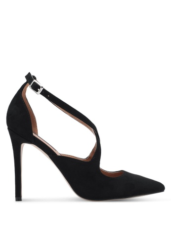 ZALORA black Strappy Pointed Toe Heels 37046ZZ6D122BBGS_1