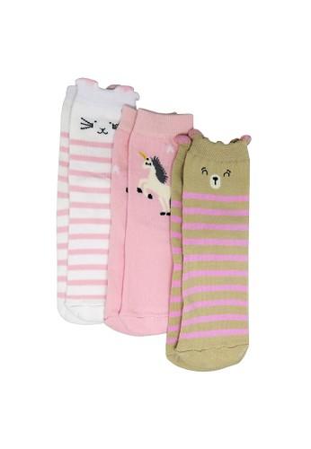 Balmoral Kids multi 3 Pairs Kids Casual Girl Socks 729DEKA614285EGS_1