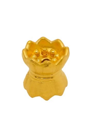 LITZ gold LITZ 999 (24K) Gold Lotus Charm EPC0528 (1.63g) D8332ACDEF5C34GS_1