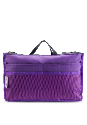 Bagstationz purple Bagstationz Premium Lightweight and Water-Resistant Multi-Compartment Bag-In-Bag Organizer BA607AC45TJIMY_1