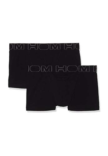 HOM 黑色 基本系列橫向開口平腳內褲 HO1 2條裝 B91F2US9B52F94GS_1