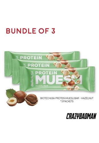 BioTechUSA [Bundle of 3] Protein Muesli Single Bar - Hazelnut 7BD08ES98B4795GS_1