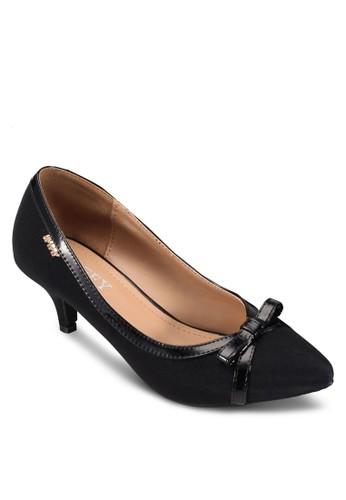 蝴蝶結尖頭低跟細跟鞋, esprit地址女鞋, 中跟
