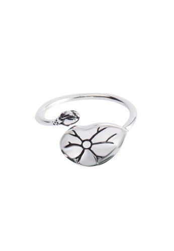 A-Excellence silver Premium S925 Sliver Leaf Ring 61904AC22E6555GS_1