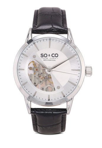 SO&CO black and silver Madison Watch 5412 E7245ACA15B4FBGS_1