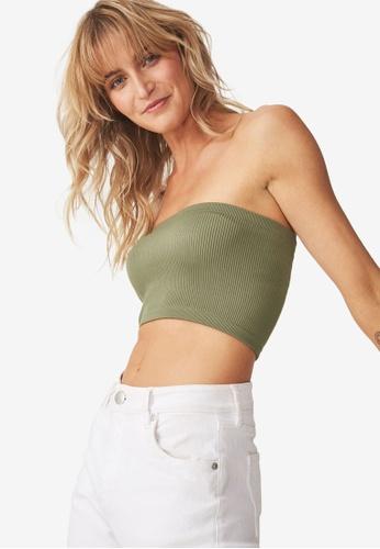 284631536b Cotton On green Samantha Seam Free Rib Tube Top CA021AAC4717D6GS 1