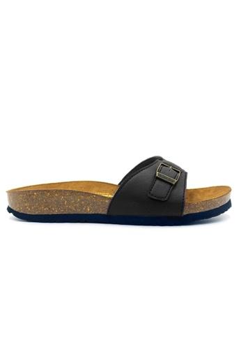SoleSimple 黑色 Seville - 黑色 休閒柔軟鞋床平底拖鞋 F2F6ESHD23E506GS_1