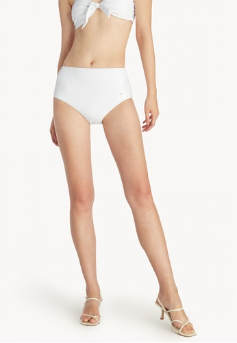Pomelo white High Waisted Scoop Bikini Bottom - White 13AF7US06B2EC4GS_1