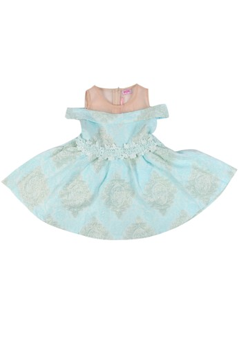 Moejoe blue MOEJOE Jacquard Dress - Blue CDB49KA9AC3AB8GS_1