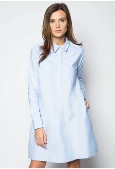 Eula Dress-Chambray Blue