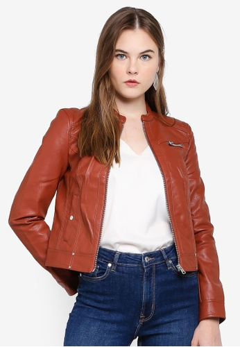 kid entire collection speical offer Sheena Short Faux Leather Jacket