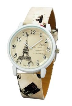 FHL Eiffel Dream Women's Leather Strap Watch F-367