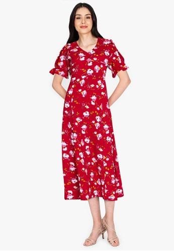 DEITY red Sweetheart Maxi Dress F3BCDAA1EB432AGS_1