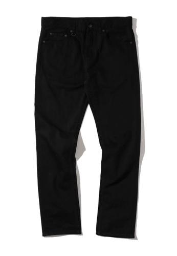 Fingercroxx black Logo embroidered straight-leg pants D4AAFAAA980E3BGS_1