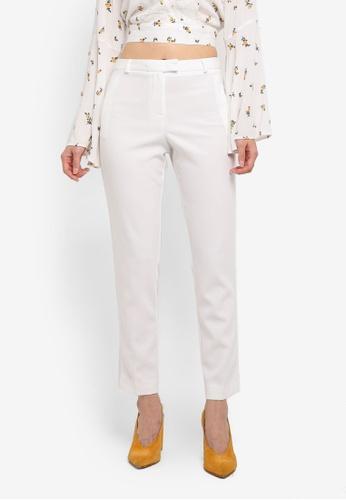 Miss Selfridge beige Ivory Split Cigarette Trousers 63205AA34205EAGS_1
