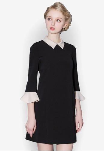 荷葉七分袖小方領連身裙, 服飾esprit tote bag, 洋裝