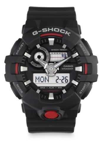 G-Shock black and red G-shock Men Analog GA-700-1ADR Black AB274AC3A01851GS_1